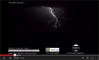 Lightning Sensor v4 - Lightning strikes slow motion - By Xavier Delorme